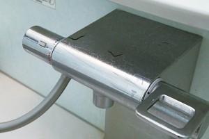 浴室カランの水垢除去